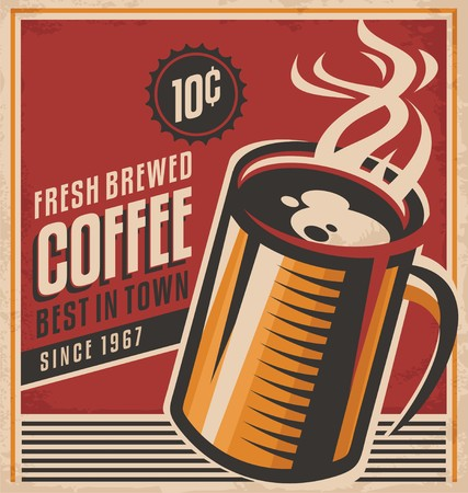 Retro coffee vector poster 矢量图像
