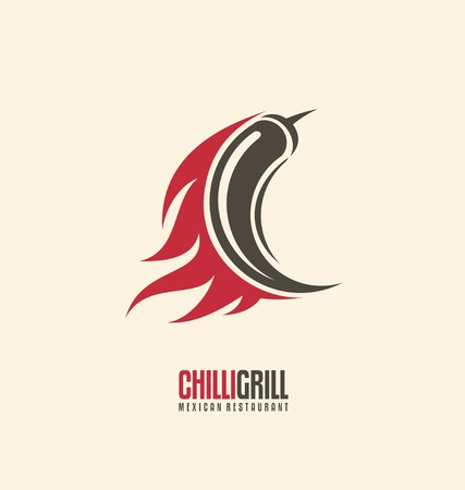 Promotional symbol concept for Mexican restaurant