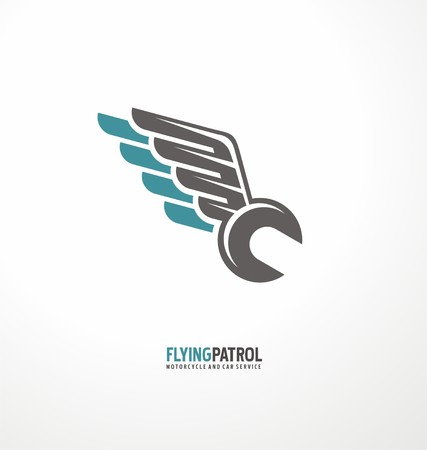Motorcycle service and repair symbol template
