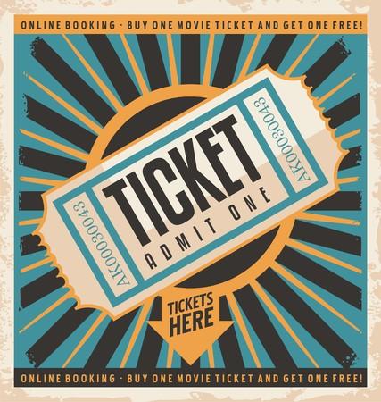 Tickets Retro Plakat Vektorgrafik