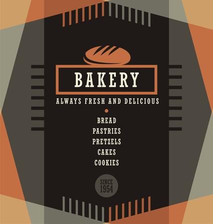 Bakery goods menu design template Illustration