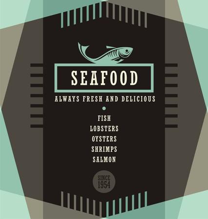 mariscos: Marisquer�a plantilla de dise�o de men� Vectores