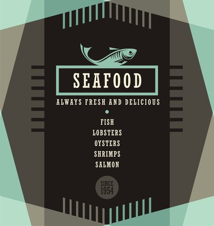 seafood background: Seafood restaurant menu design template