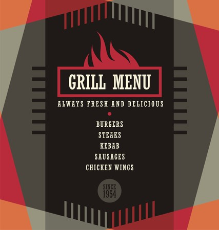 Grill menu design template