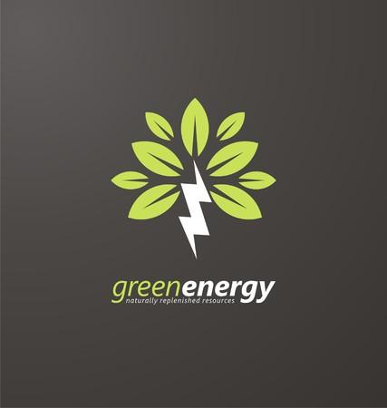 再生可能エネルギーのための創造的なシンボル コンセプト  イラスト・ベクター素材