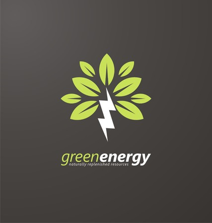 Creative symbol concept for renewable energy