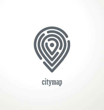 City map creative symbol concept