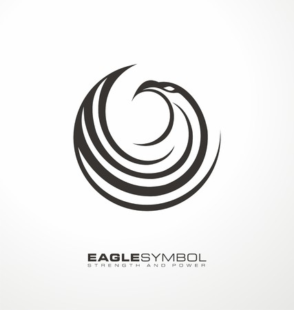 hawk: Eagle symbol vector template