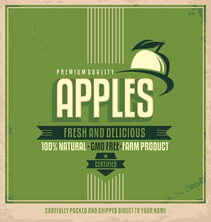 old fashioned vegetables: Fresh farm product poster design.