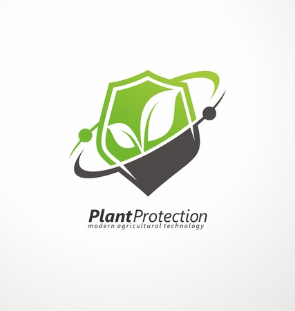 plant design: Modern agricultural technology symbol template Illustration