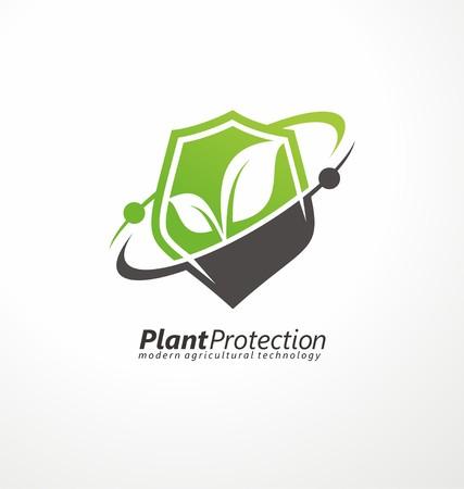protección: Moderna tecnología agrícola símbolo tarjeta
