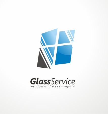 personal de limpieza: Cristal dise�o s�mbolo de servicio Vectores