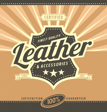 Leather work retro poster design