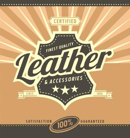 Leather work retro poster design