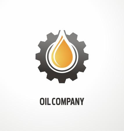 company: Oil company creative symbol concept