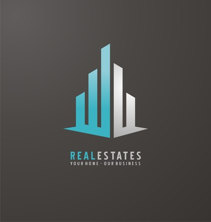 Symbol concept for accounting or real estate company