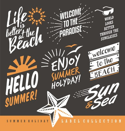 Summer labels collection