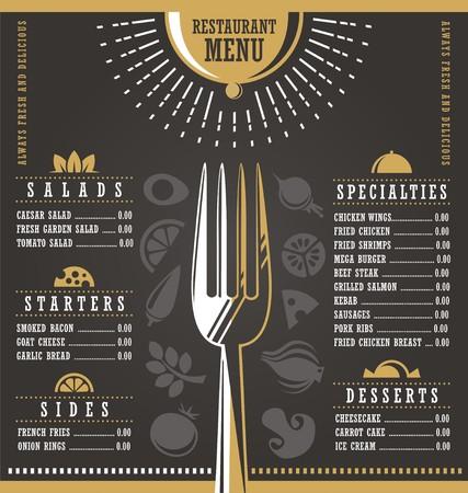 dinner plate: Restaurant menu design