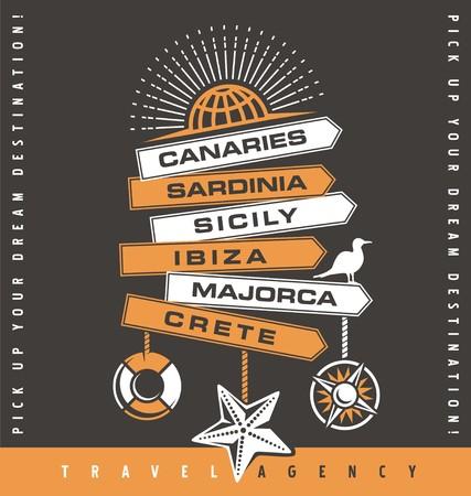 majorca: Travel agency promotion banner design Illustration