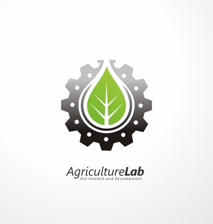 agriculture industrial: Modern agricultural technology symbol template Illustration