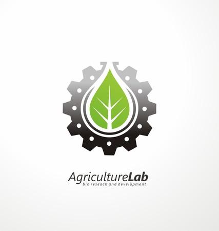 logo de comida: Moderna tecnología agrícola símbolo tarjeta