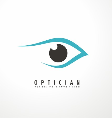 round eyes: Optician creative symbol concept template