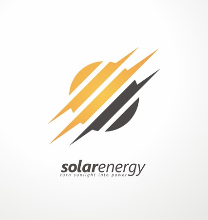 Sun icon with subtly bolt shapes