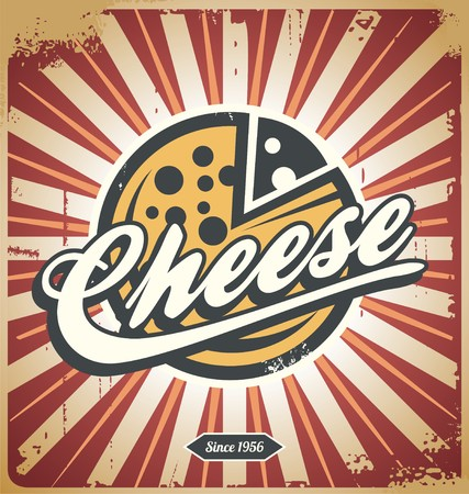 Cheese retro metal sign