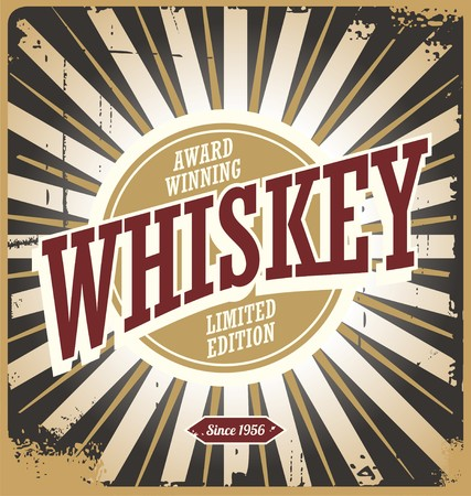 Whiskey vintage tin sign