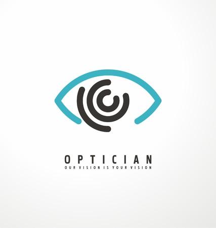 Optyk twórcza koncepcja symbol szablon Ilustracje wektorowe
