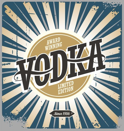 Vodka vintage tin sign