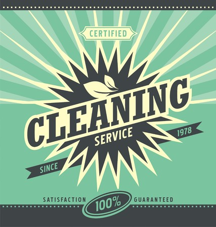 Vintage ad design for cleaning service Illustration
