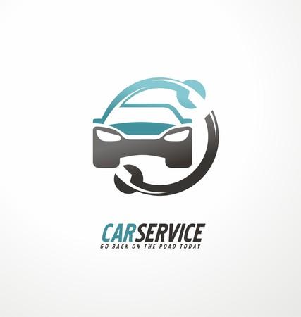 Car abstract vector design concept