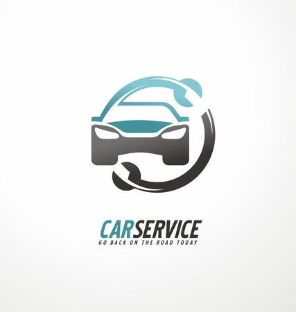 automotive repair: Car abstract vector design concept