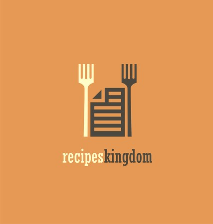 preparing food: Unique icon idea for recipes book Illustration