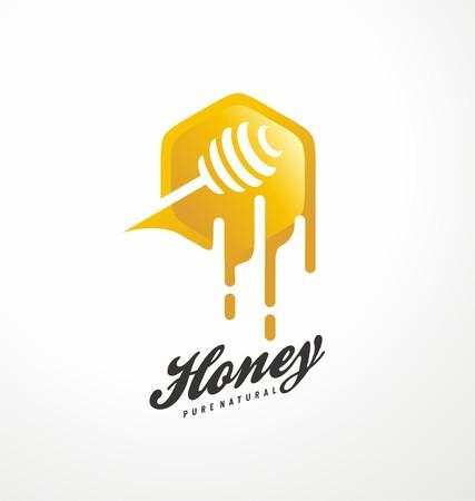 蜂蜜のシンボル デザイン コンセプト