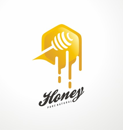 Honey symbol design concept Illustration