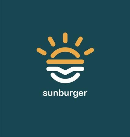 Fast food creative symbol concept