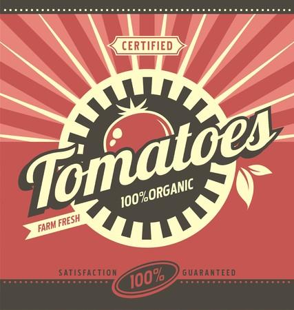 tomato: Tomatoes retro ad concept