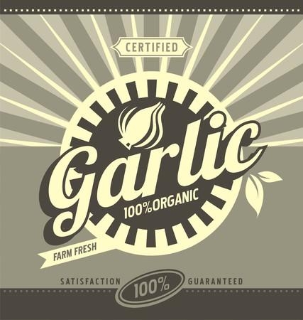 fifties: Garlic retro ad concept Illustration