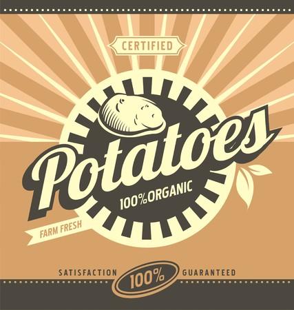 Potatoes retro ad concept