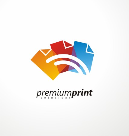 inkjet printer: Creative symbol idea for printing shop