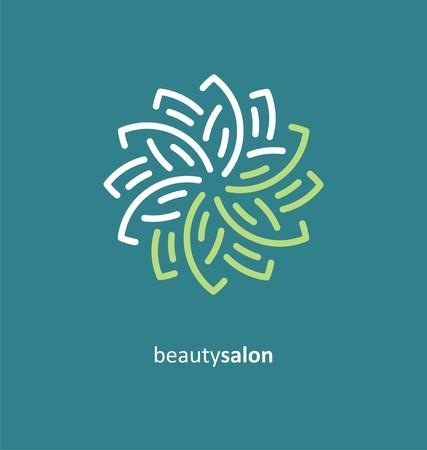 Beauty salon creative symbol concept