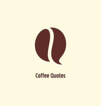 Café symbole bean modèle