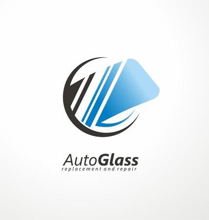 windshield: Windshield symbol concept Illustration