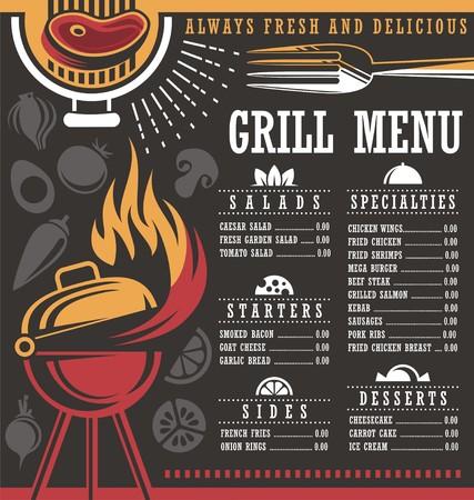 layout: Restaurant menu layout