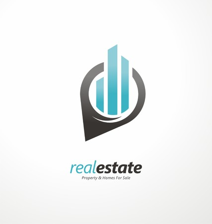 Creative real estates symbol layout