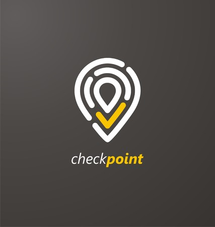 check symbol: Check point creative symbol concept Illustration