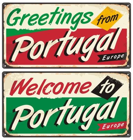 reise retro: Portugal reisen retro Zeichen Vorlage