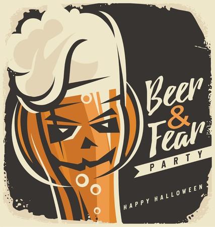 Halloween party invitation design concept